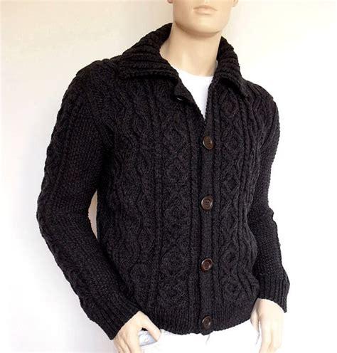 custom knit sweater sweater knit cable cardigan merino wool aran knit