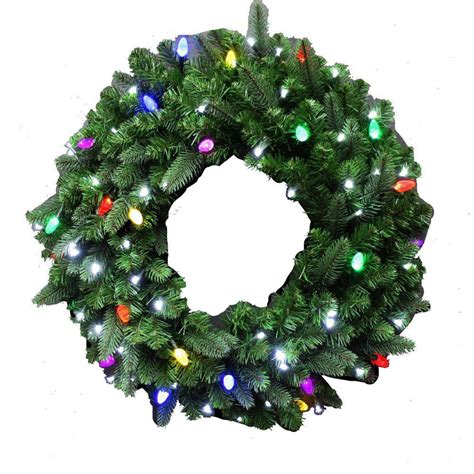 lit wreaths home accents 32 in led pre lit jolly
