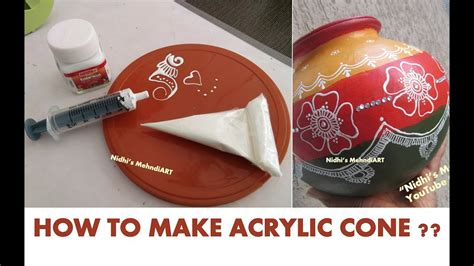acrylic paint cones how to make acrylic cone from acrylic paint bottle for