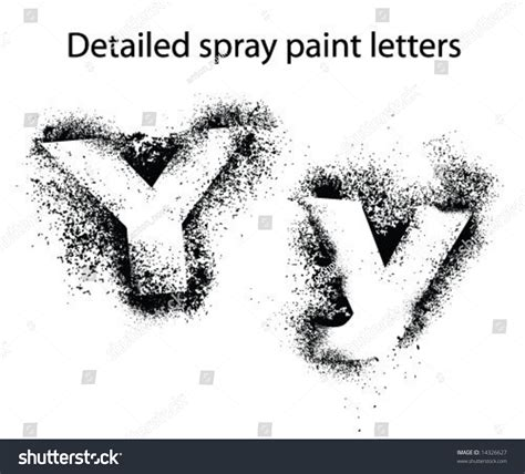 spray paint font detailed spray paint font yy stock vector illustration