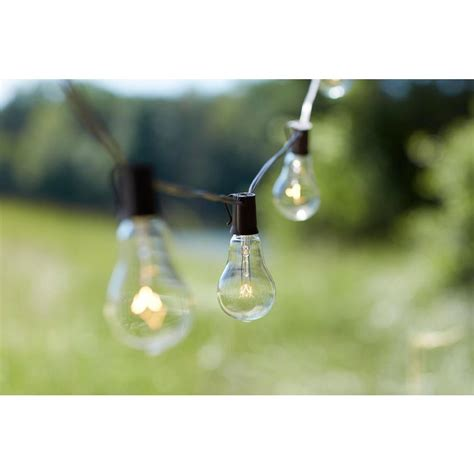 outdoor string bulb lights edison 10 light outdoor decorative clear bulb string light