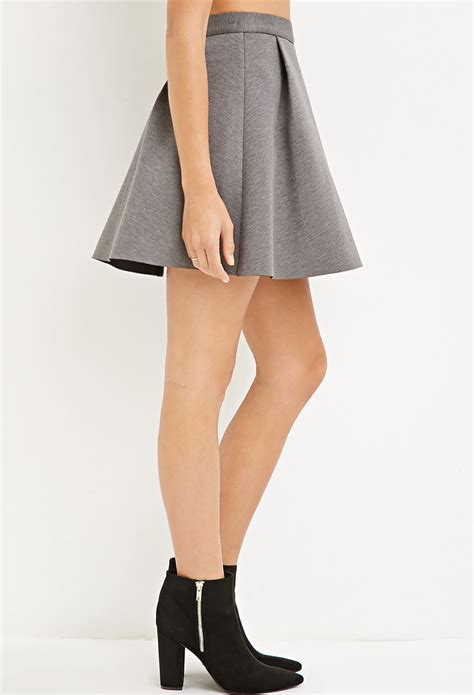 grey knit skirt forever 21 pleated scuba knit skirt you ve been added to