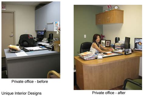 before and after a designer unique office waiting area design studio design