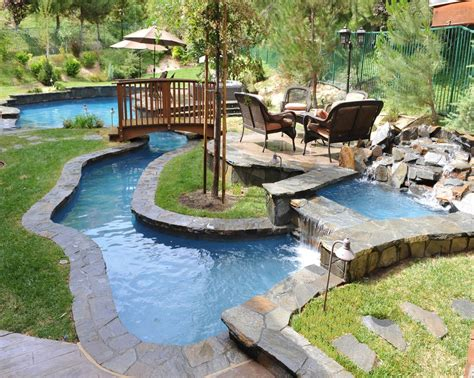 lazy river pools for your backyard small backyard lazy river pool design with liner and
