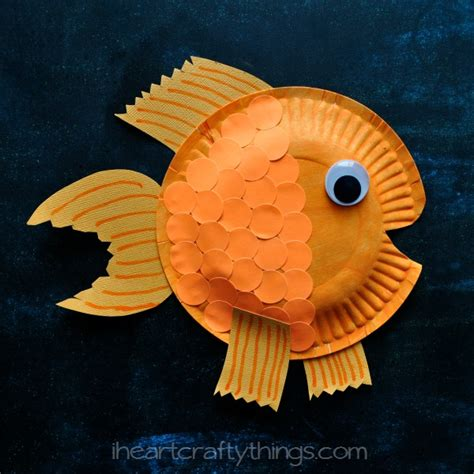paper plate fish craft i crafty things paper plate fish craft for