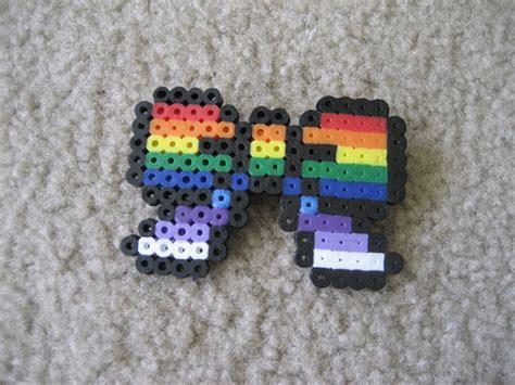 perler bow rainbow perler bead bow