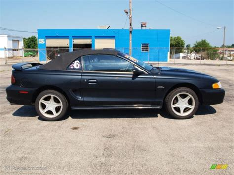 1997 Ford Mustang Gt by Black 1997 Ford Mustang Gt Convertible Exterior Photo