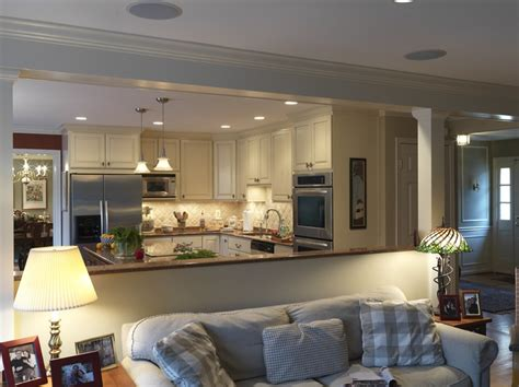 open kitchen and living room design looks beautiful for opening up the kitchen dining room