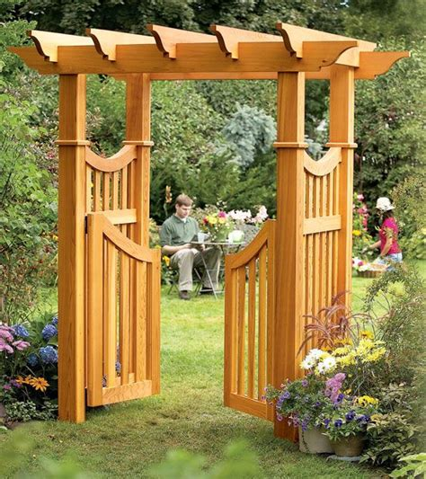 garden arbor woodworking plans outdoor trellis designs aw garden arbor