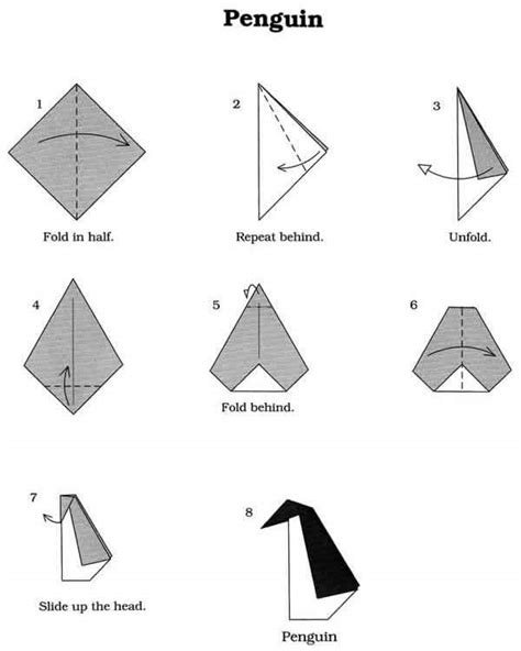 origami patterns for beginners origami penguin penguins your meme