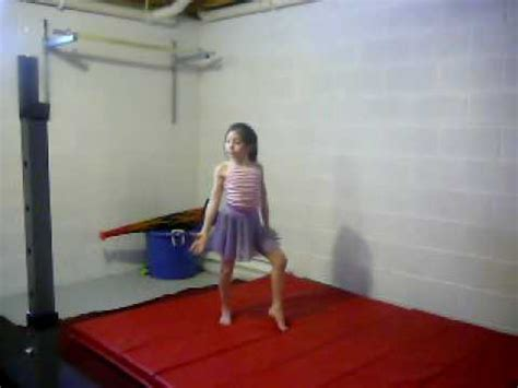 for to do at home 9yr home gymnastics routine