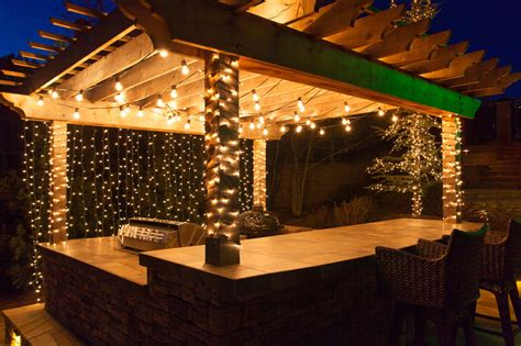 outdoor hanging lights patio deck lighting ideas with brilliant results yard envy