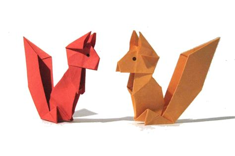 the origami origami squirrel easy origami tutorial version how