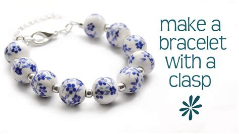 how to make jewelry bracelets make a beaded bracelet with a clasp jewelry