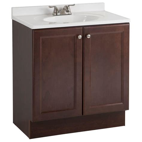 bathroom vanity and top combo glacier bay all in one 30 in w bath vanity combo in