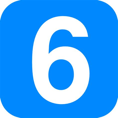 number six blue number one clip at clker vector clip