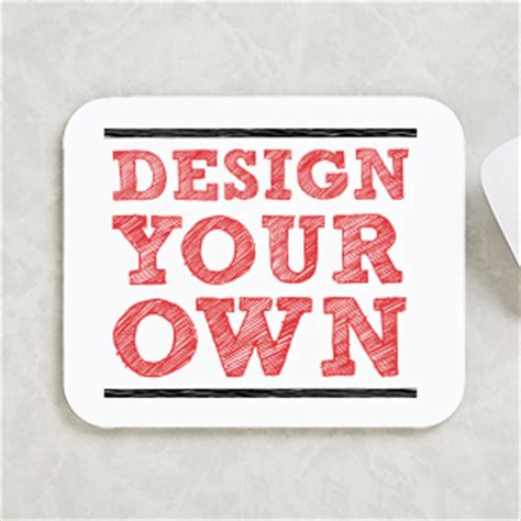 make your own design your own custom mouse pad