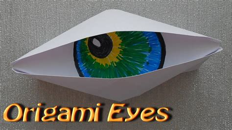 origami blinking eye origami make origami paper cyclops eye origami