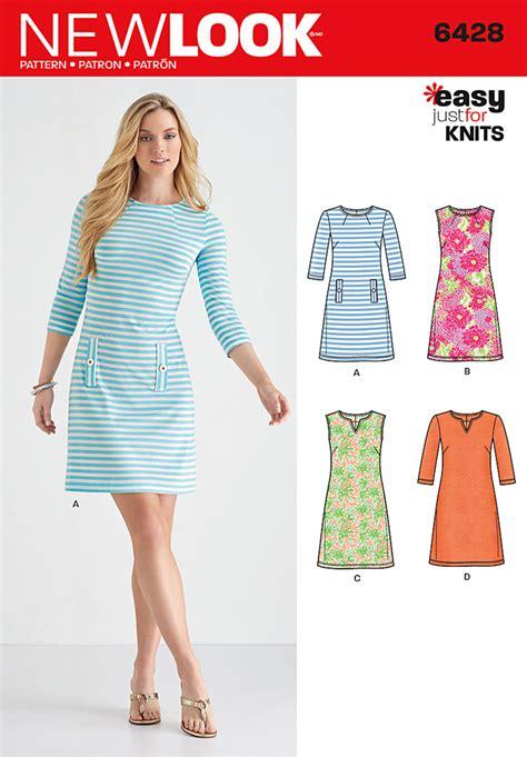 New Look 6428 Misses Knit Dresses