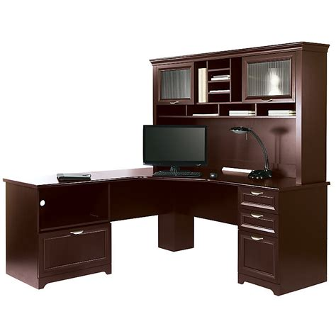 office depot l shaped desk with hutch realspace magellan performance collection l desk w hutch