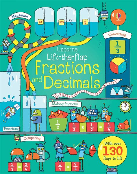 fraction picture books lift the flap fractions and decimals at usborne children