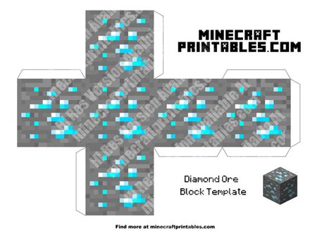 minecraft crafts for ore printable minecraft ore papercraft