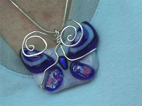 how to make dichroic glass jewelry at home how to make a fused glass butterfly pendant hgtv