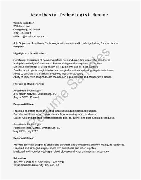 great sample resume resume samples anesthesia