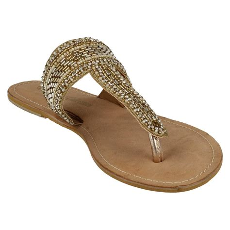 beaded toe sandals spot on leather collection beaded toe post sandals