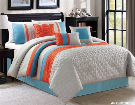 the gallery for gt orange and gray bedding