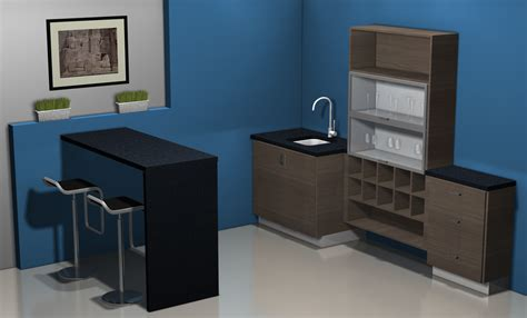 kitchen design ideas a bar area with ikea cabinets