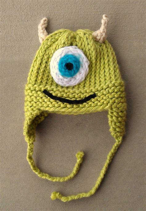 inc 1 knitting ready to ship mike monsters inc knit hat from