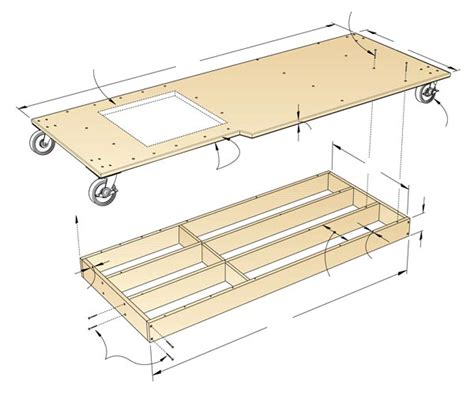 mobile bases for woodworking equipment torsion box mobile base woodworking plan from wood magazine