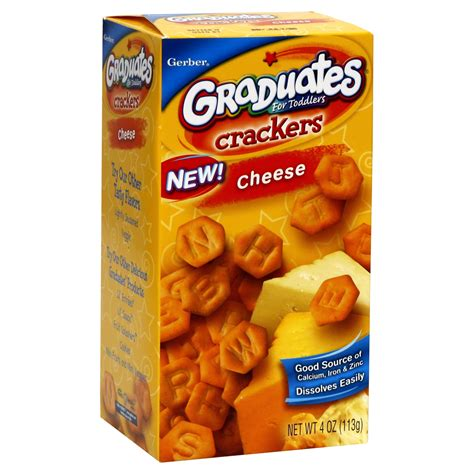 crackers for toddlers gerber graduates for toddlers crackers cheese 4 oz 113 g