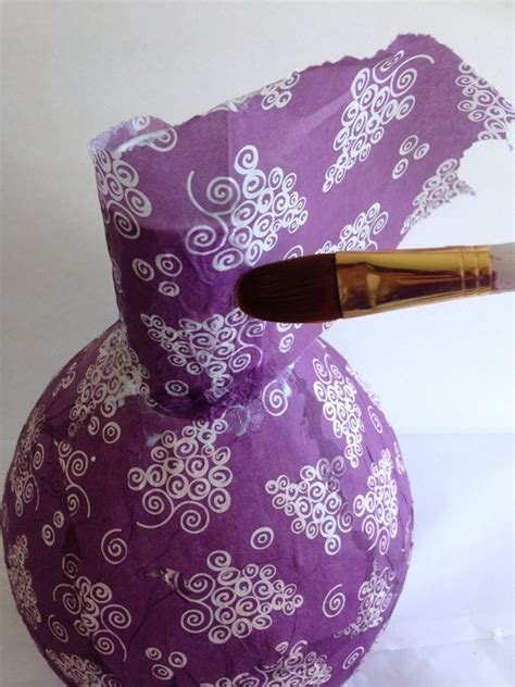 craft ideas with paper napkins decoupage napkins on paper mache vases hometalk