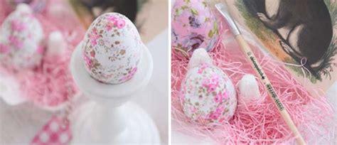 decoupage easter eggs tissue paper decoupage easter eggs