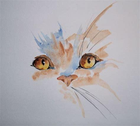 simple cat painting pictures aquarelle simple cat pinteres