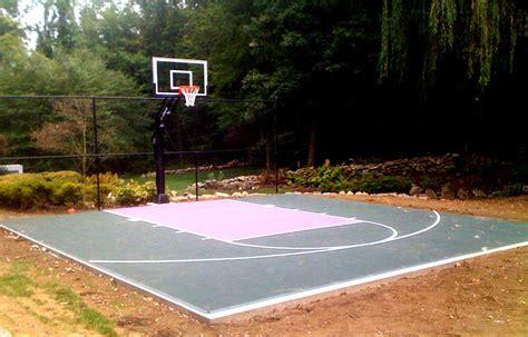 basketball half court dimensions backyard backyard basketball court layout tips and dimensions