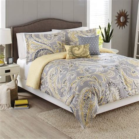 yellow and white bedding sets better homes and gardens 5 bedding comforter set