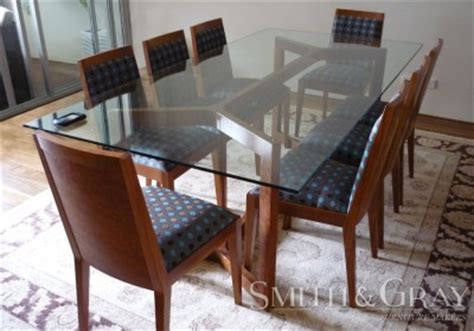 Custom Glass Top For Dining Table Dining Tables Smith Gray