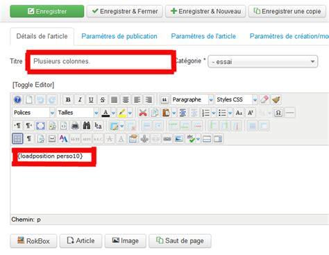 Modification Article by Modification De La Mise En Page D Un Article