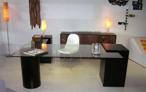 glass top office desk modern modern glass office desk