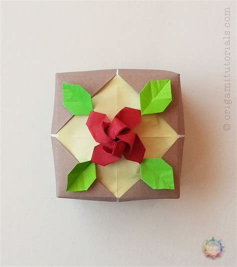 single sheet origami flower origami albers box origami tutorials