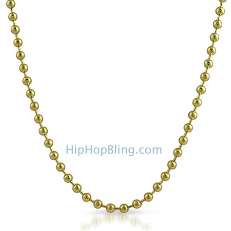 gold bead chain 4 5mm gold plated bead tag chain necklace gold