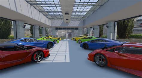 6 car garage 8 car garage showroom gta5 mods
