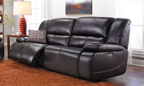 reclining power sofa jamison leather power reclining sofa the dump america