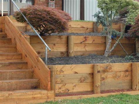 Simple House With Garden by Diy Garden Retaining Walls The Garden Glove
