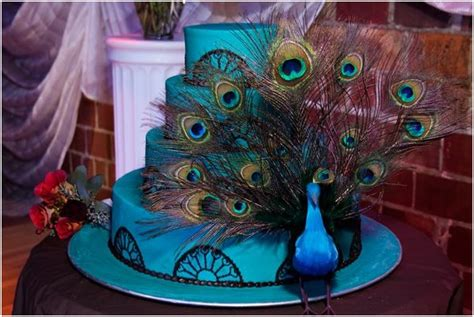 peacock themed decorations tbdress peacock themed wedding cakes for peacock weddings