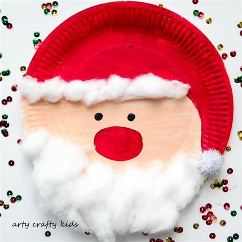 santa paper plate craft paper plate crafts mrs karles sight and sound