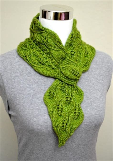 skpo knitting term leaves mock cables scarf supply patterns kollabora